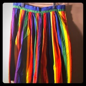 Mod-Cloth rainbow stripe skirt